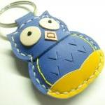 Fiona the Owl Leather Keych..