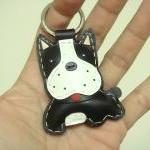 Boston Terrier Leather Keyc..
