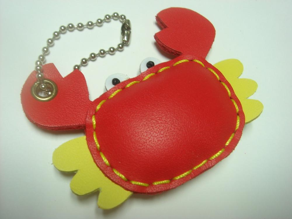 Leather Charm - Maria the Red Crab leather charm
