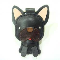 Duke the French Bull Dog Leather Charm ( Black )